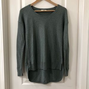 Madewell Chronicle Texture Pullover Green Sweater